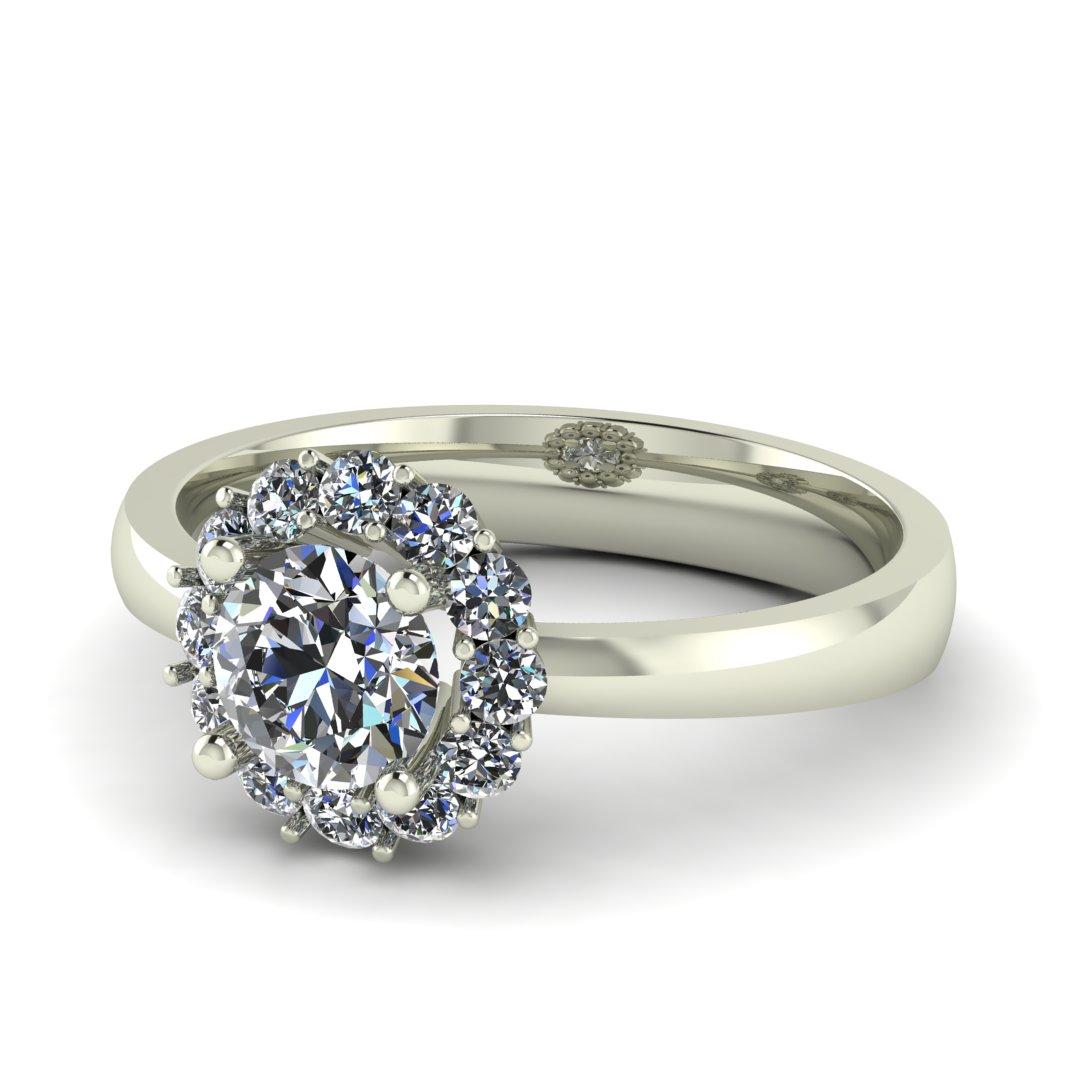 Помолвочное кольцо Бриллиантовый Цветок