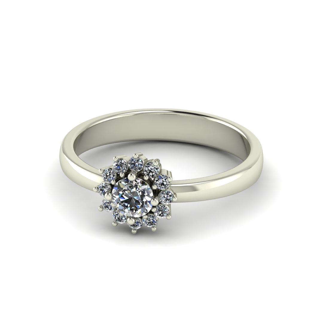 Помолвочное кольцо Цветочек