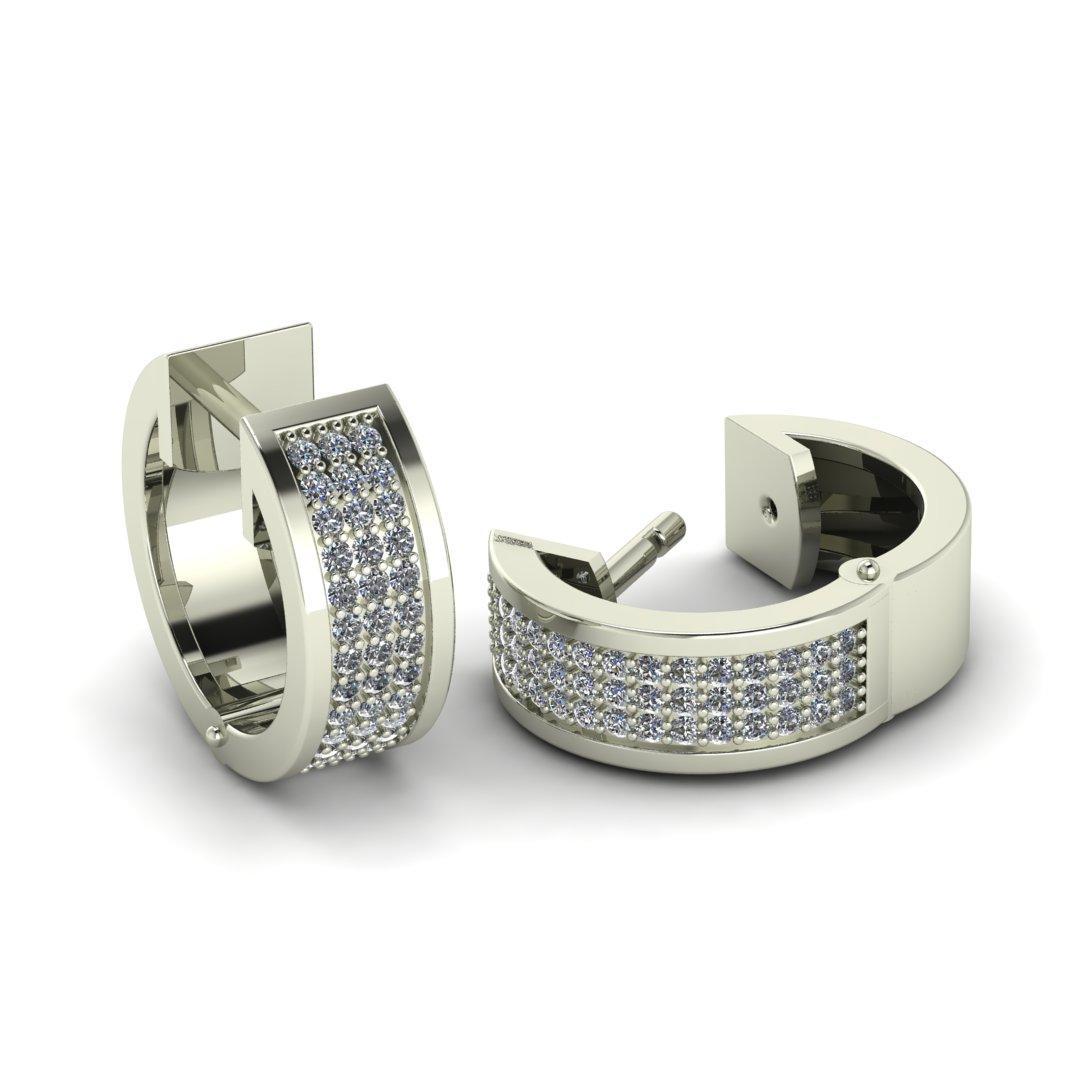 Серьги с бриллиантовой дорожкой