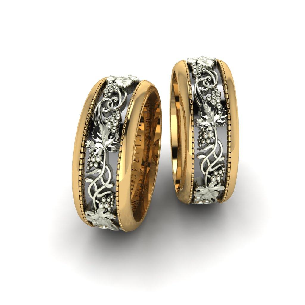 Обручальные кольца Виноградная лоза