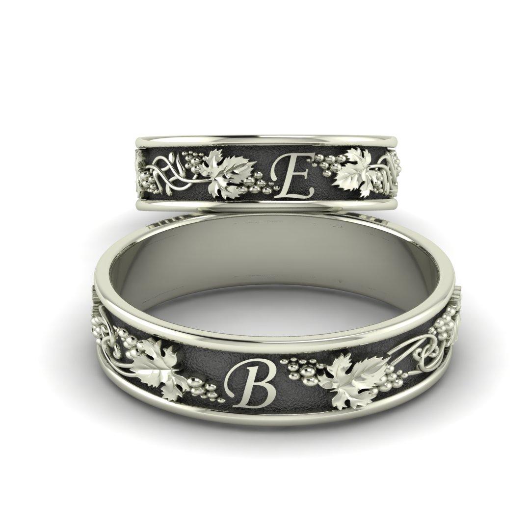 обручальные кольца с инициалами