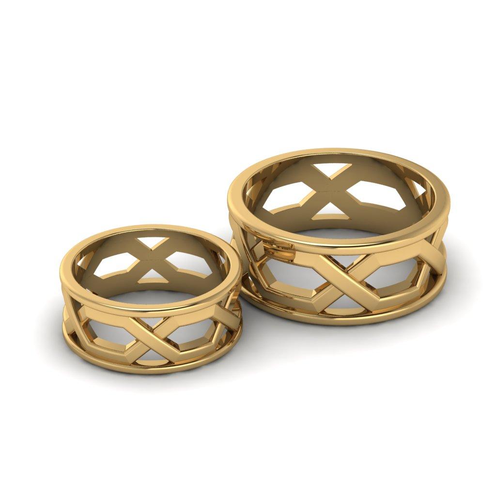 Обручальные кольца с плетением