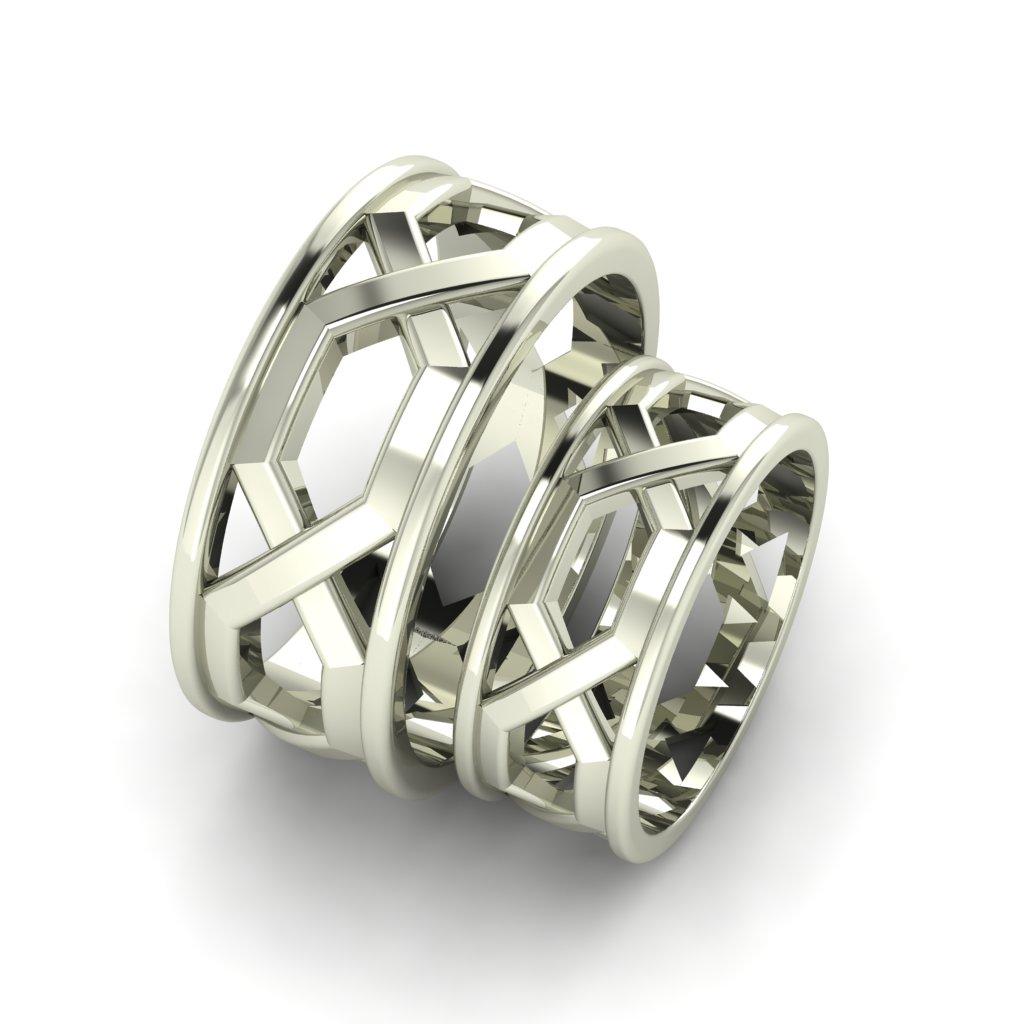 Обручальные кольца из белого золота
