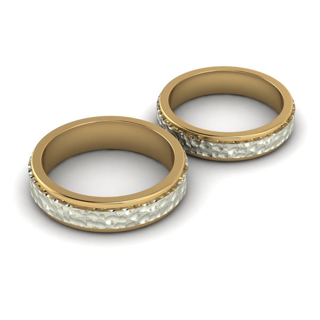 Обручальные кольца Кованные