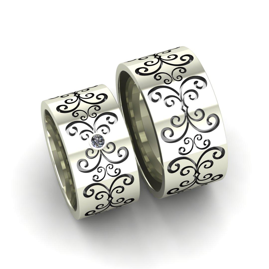 Обручальные кольца Ростки