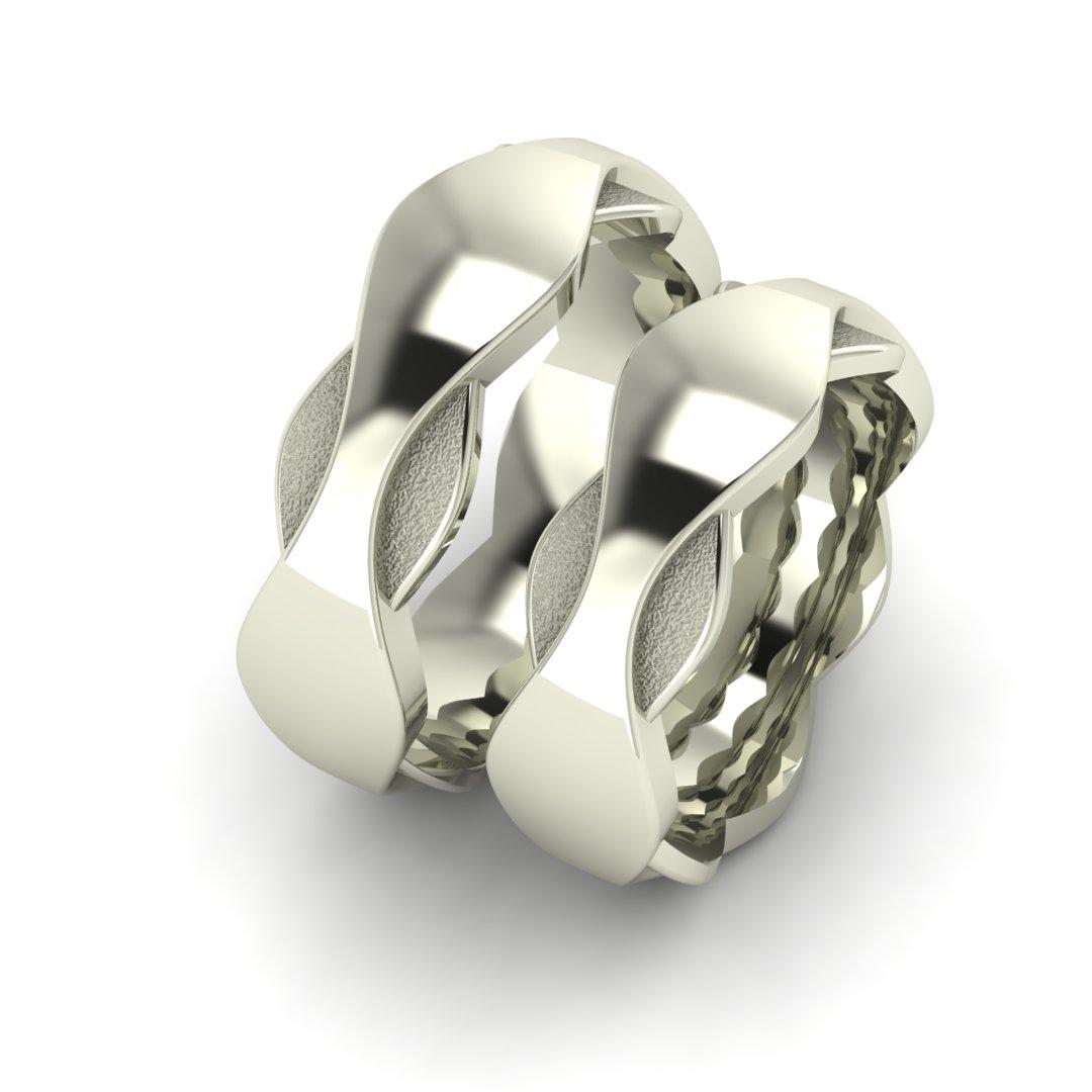 Обручальные кольца с волнами