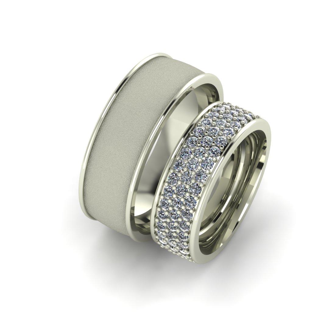 Обручальные кольца Бриллиантовая дорога