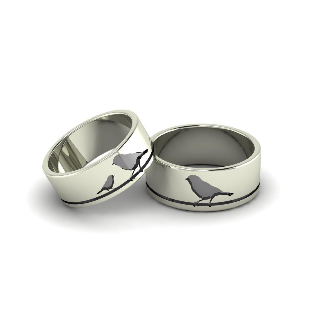 Обручальные кольца Птицы