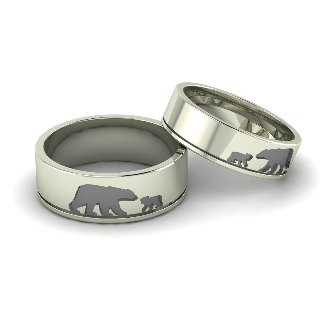 Обручальные кольца Медведи