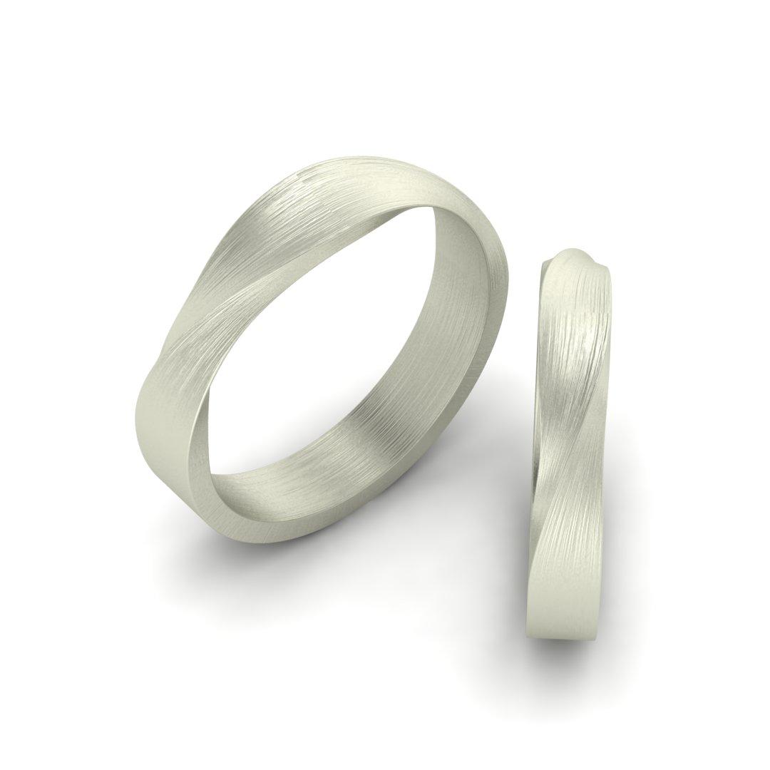 обручальные кольца с фактурной поверхностью